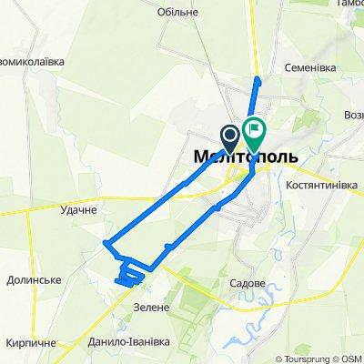 От вулиця Університетська 144, Мелітополь до вулиця Гетьмана Сагайдачного 21, Мелітополь