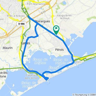 De 1000 Route de la Foire, Pérols à 1000 Route de la Foire, Pérols