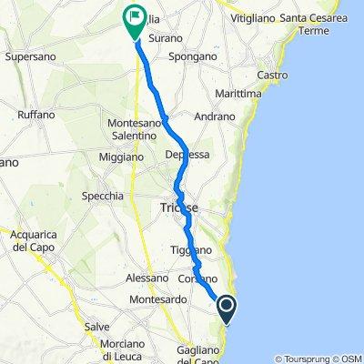 Da Via T. Magellano 32, Marina di Novaglie a SS275 7, Nociglia