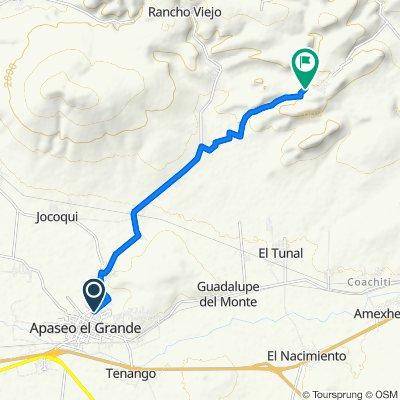 Ruta desde Prolongación Juan Aldama, Apaseo el Grande