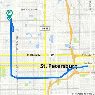 3134 52nd Way N, Saint Petersburg to 3134 52nd Way N, Saint Petersburg