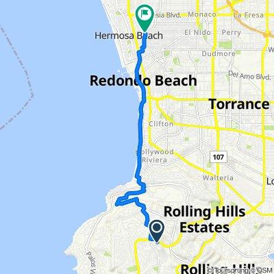 Ravenspur Drive 5757, Rancho Palos Verdes to Aviation Boulevard 1109, Hermosa Beach