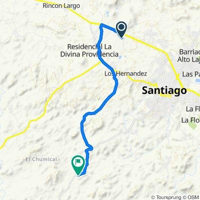 De Llano San Juan, La Peña a Unnamed Road