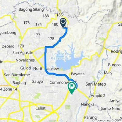 San Francisco 76, Caloocan to Filinvest 1 Road 30a, Quezon City