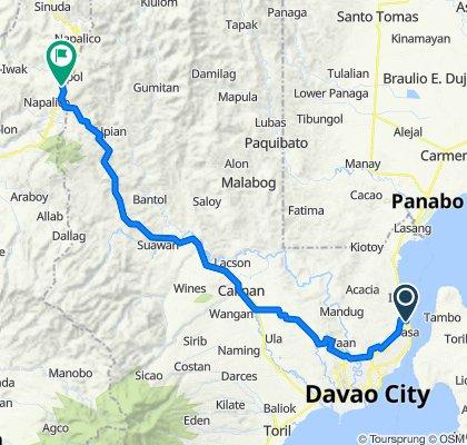 Davao City to Davao - Bukidnon Highway, Arakan