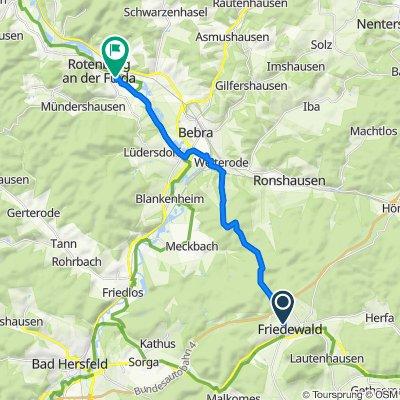 Friedewald nach Rotenburg an der Fulda
