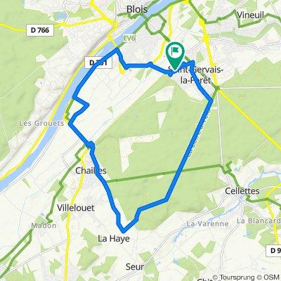 De 10 Passage du Caillou Blanc, Saint-Gervais-la-Forêt à 10 Passage du Caillou Blanc, Saint-Gervais-la-Forêt