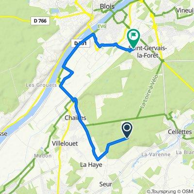 De Allée de la Chesnaie, Seur à 10 Passage du Caillou Blanc, Saint-Gervais-la-Forêt