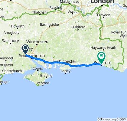 1 Hill St, Calmore, Southampton to Brighton Railway Station, Queen's Road, Brighton