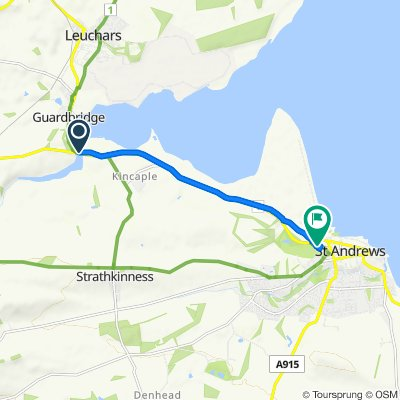 Route from 1 Old Saint Andrews Road, St. Andrews