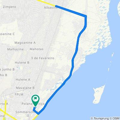 Rua do Rio Inhamiara, Maputo to Rua do Rio Inhamiara, Maputo