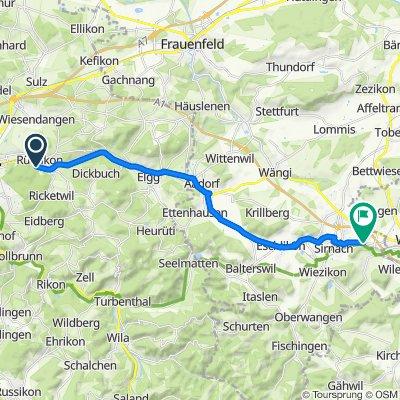Sankt Galler Strasse 18, Elsau nach Wilerstrasse 74, Sirnach