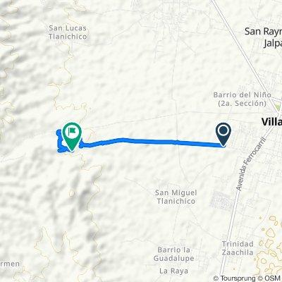 Ruta desde Calle Bidoo, Villa de Zaachila