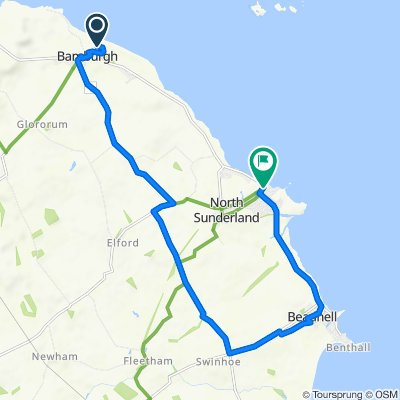 1 Links Road, Northumberland to 3 Seafield Road, North Sunderland, Seahouses