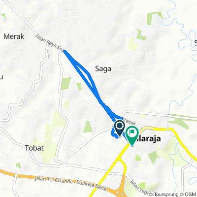 Jalan Lapak Arbain, Kecamatan Balaraja to Jalan Talaga Sari 2, Kecamatan Balaraja