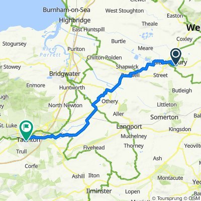 Route to Park St, Taunton