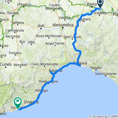 Pavia to Genoa