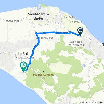 De Route de Saint-Martin 65, La Flotte à Route de Gros Jonc 7, Le Bois-Plage-en-Ré