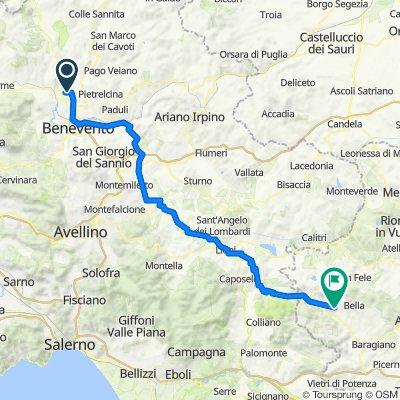Da Unnamed Road, Benevento a Via Castello 34, Muro Lucano