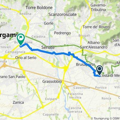 Da Via Giovanni Pascoli, Bagnatica a Via Boccaleone 20M, Bergamo