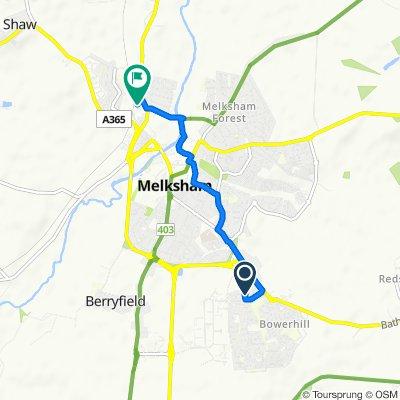 2 Birch Grove, Melksham to 2 Foundry Close, Melksham