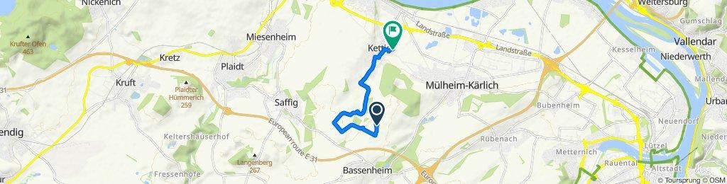 Bassenheimer Straße, Bassenheim nach Im Kleinflur 4, Kettig
