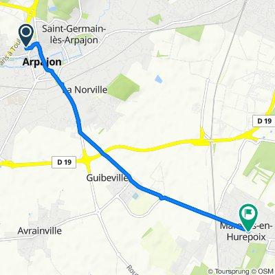 De 2 Rue des Grouaisons, Arpajon à 36 Grande Rue, Marolles-en-Hurepoix