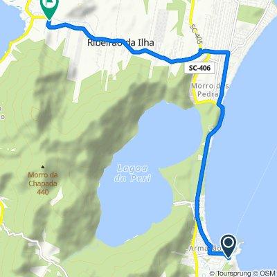 De Avenida Antônio Borges dos Santos, 153, Florianópolis a Servidão Sul da Ilha, 152, Florianópolis