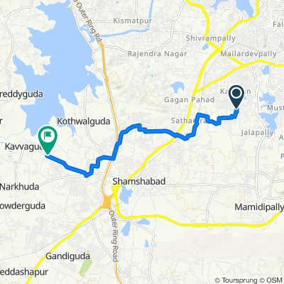 Unnamed Road, Hyderabad to Rallaguda Road 30, Hyderabad