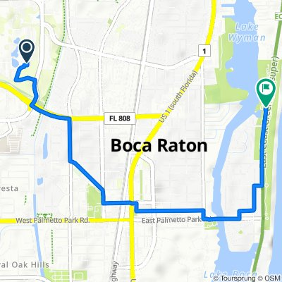 1700 Saint Lucie Ave S, Boca Raton to 1221 N Ocean Blvd, Boca Raton