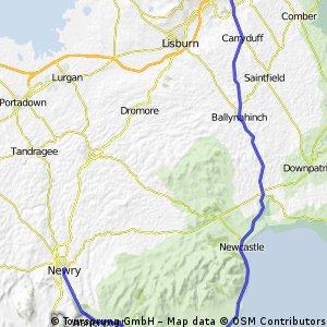 Belfast to Newry via Newcastle