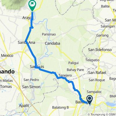 General Alejo G. Santos Highway 807, Bustos to Arayat