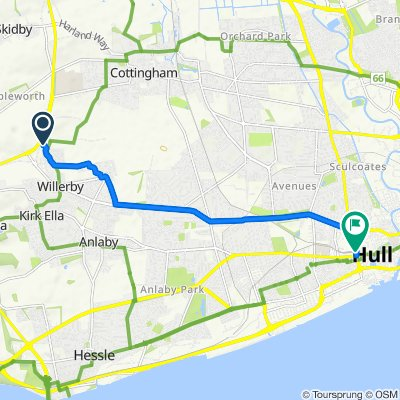 19, Oak Hill, Hull to 170 Ferensway, Hull