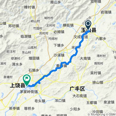 Route to Shangrao cycle path