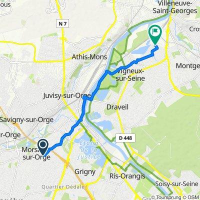 De 20 Avenue du Commandant Barré, Morsang-sur-Orge à 2–14 Rue du Bac d'Ablon, Vigneux-sur-Seine