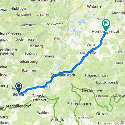 Mühlweg, Stadtallendorf to Rosenthal 2, Homberg (Efze)