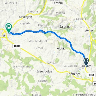 De Lasbories, Rueyres à Rue Bergougnioux, Gramat