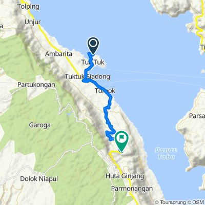 Route to Jalan Pulau Samosir, Toba Samosir