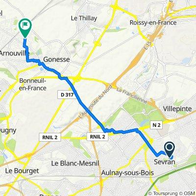Rue Thiers 1, Sevran to Avenue Alexandre Gassien 19, Gonesse
