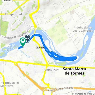 De Paseo del Parque Fluvial, Santa Marta de Tormes a Paseo del Parque Fluvial, 29, Santa Marta de Tormes