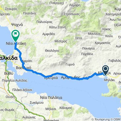 Odissea Androutsou, Aliveri to Unnamed Road, Nea Artaki