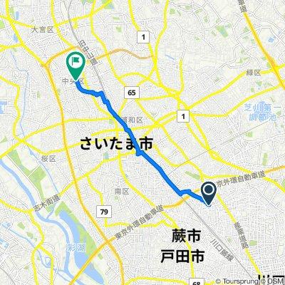 3852, Shiba, Kawaguchi-Shi to 12, Shimoochiai 5-Chōme, Chuo-Ku, Saitama-Shi