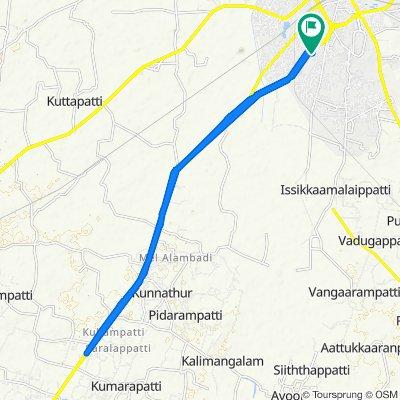 1st Street, Tiruchirappalli to Raja Rajan Nagar Street Extension, Tiruchirappalli