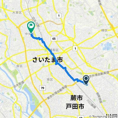 5158-7, Shiba, Kawaguchi-Shi to 12, Shimoochiai 5-Chōme, Chuo-Ku, Saitama-Shi