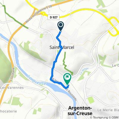 De 3–17 Chemin de l'Image, Saint-Marcel à 5 Impasse du Moulinet, Argenton-sur-Creuse