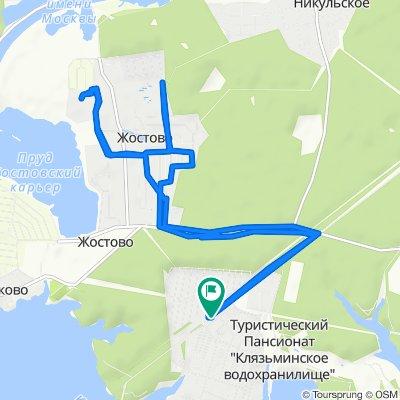 От улица Цветочная, 573, Пироговский до Берёзовая улица, 7V, Пироговский