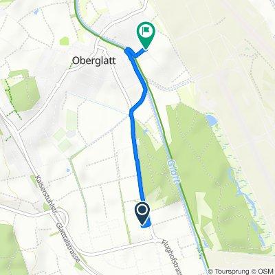 Oberglatterstrasse, Rümlang nach Grubenweg 10, Oberglatt ZH