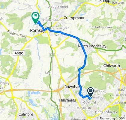 19 Abercrombie Gardens, Southampton to 19 Priestlands, Romsey