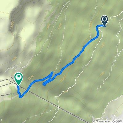 Itinéraire à partir de Chalet de Branveau, Crozet