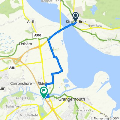 6 High St, Alloa to M9, Falkirk
